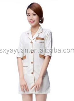 South Korean edition hospital dress in autumn winter brown dress nurses