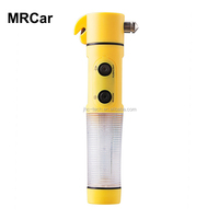 4-in-1 waterproof car tools seatbelt cutter multi functional bus emergency hammer with led flashlight