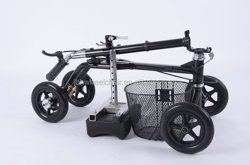 lightweight folding knee scooter with removeable basket