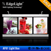 Edgelight AF61 lighting sign board for shops , mile tea , menuboard light box aluminum frame LED advertising light box