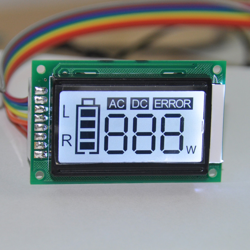 Segment LCD Custom small size COB <strong>module</strong> 7 segment monochrome lcd monitor for Water Purifier