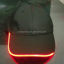 Baseball Caps with Led Lights, 6 led colors ~ Led Lighting Baseball Caps with adjustable fastening