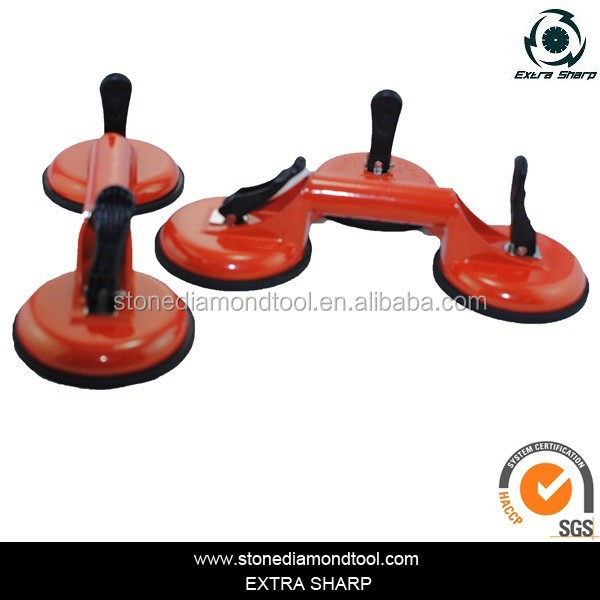 3x Heavy Duty Dual Suction Cup Pad Glass Lifting Metal Door Lifter