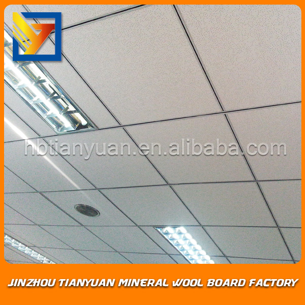 CE certificate fire rated acoustical mineral fiber board