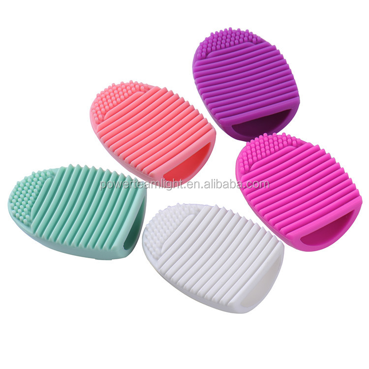 Makeup Brush Cleaner Cosmetic Makeup Brush Egg Silicone Cleaning Glove Little Scrubber Tool Mini Washboard for Make-Up Brushes