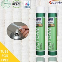 Best Selling window door construction 500ml 750ml PU Expanding Spray Insulation Polyurethane waterproof adhesive sealant