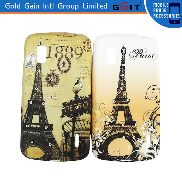 Hot Selling Eiffel Tower Pattern Diamond Case For LG Nexus 4 E960