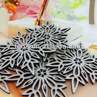 Shiny Glitter Plywood Snowflake Home Decorations