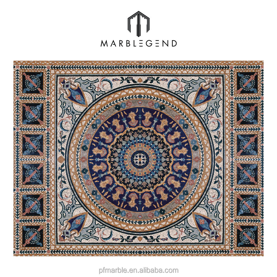 New style Natural Stone Marble Mosaic medallion Pattern