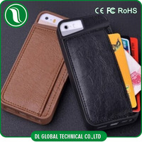 Hot selling credit card slot phone case for iphone 5 5s phone case with card slot