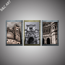 Frameless Canvas Prints Panel Wall Art Church Building Painting