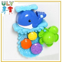 Hot selling baby cute animal plastic water squeeze octopus bath toy