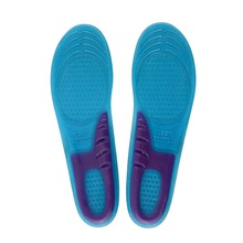 1Pair Shoe Blue Silicone Gel Pad Heel Feet Insert Insole Comfortable Cushion Anti-Vibration
