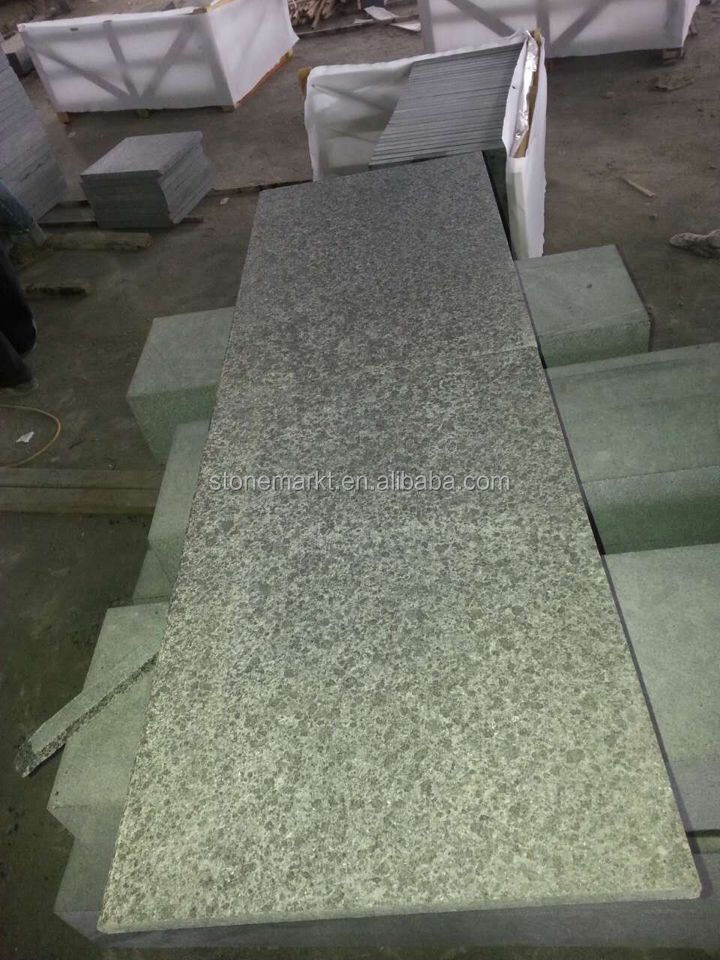 China Black Granite Flamed Floor Tiles for exterior Decoration