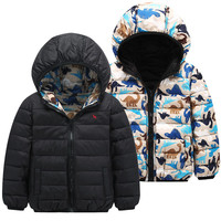 OEM high quality children padded jacket super warm down parka china factory