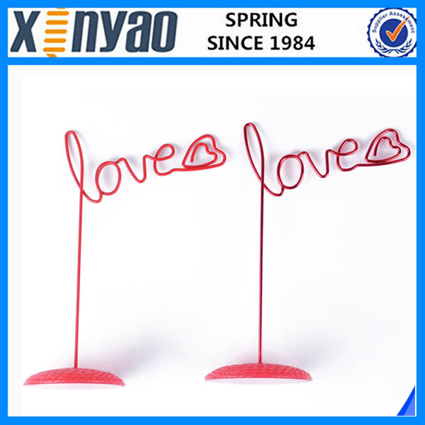 promotional gifts metal photo clips memo clip red love shape name card holder