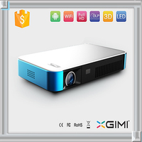Mini portable 3d full hd led projector connect your smart phone for dual wifi bluetooth