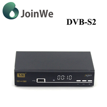 JoinWe open tv box V8 super Freesat DVB-S2 Full hd satellite receiver strong free iptv decoder support powervu