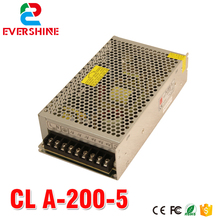 power supply 5v 40a A-200-5 Chuang lian Single output 200W switching power supply with CE approved