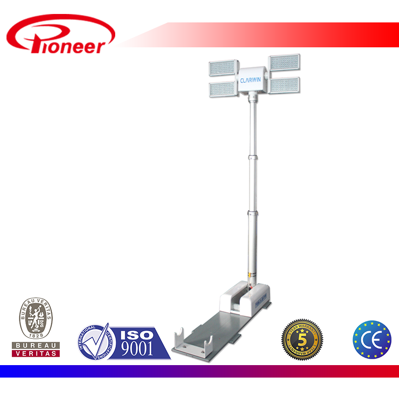 Police car roof led flood light tower,2.2m, 80000lm