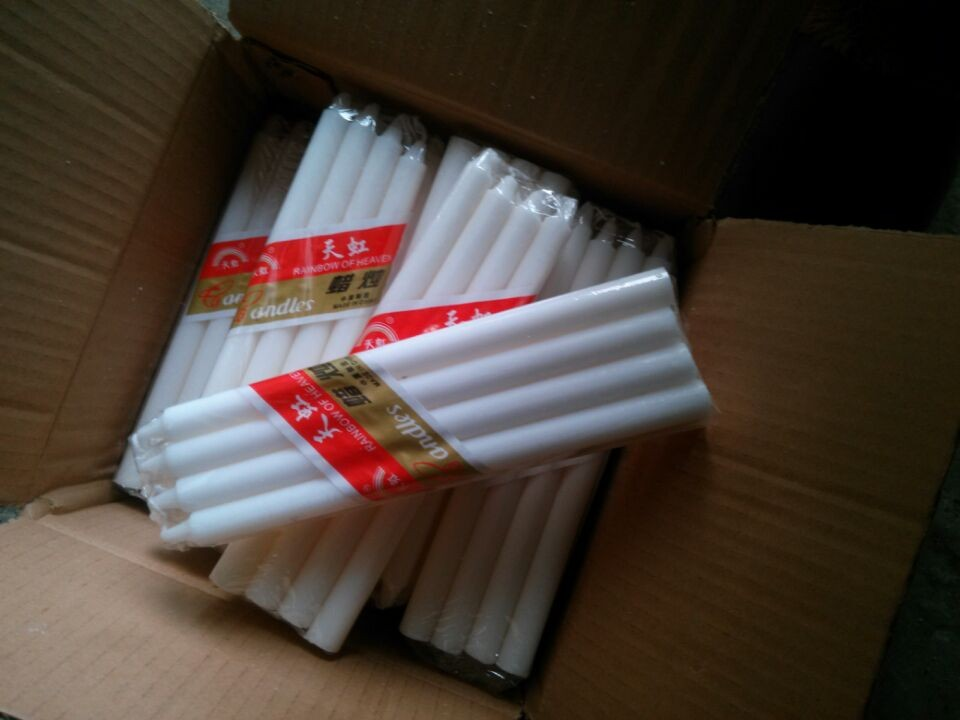 White candle taper Candle 12 inch factory wholesale