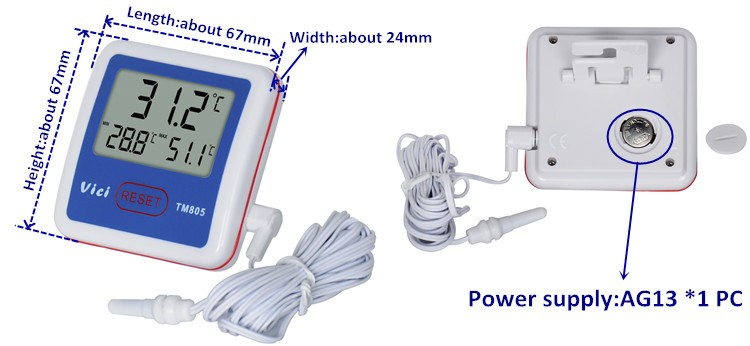 TM805 weather station thermostat fridge thermometer
