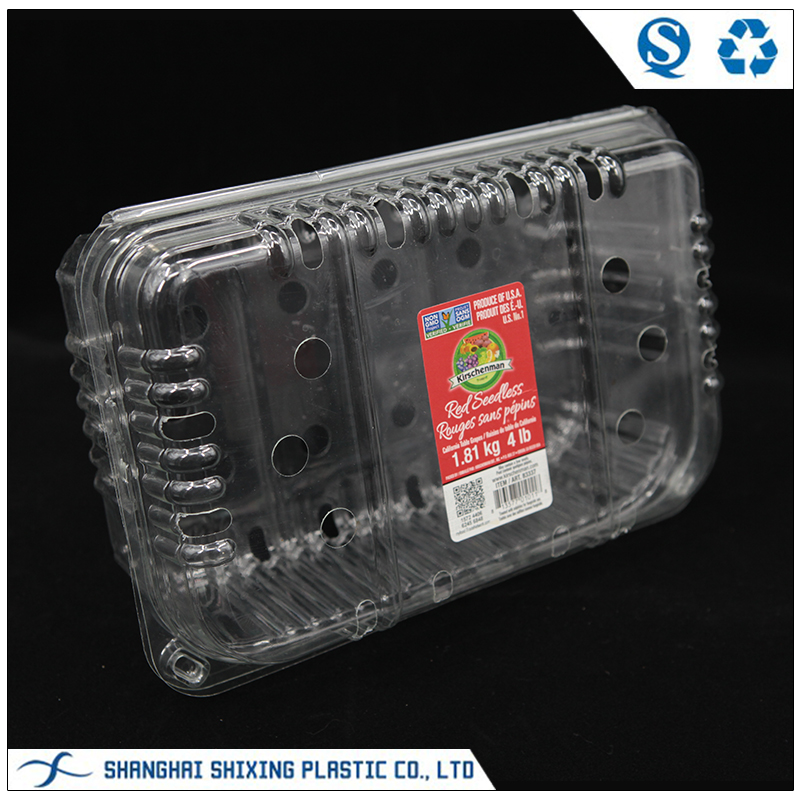 Disposable Apple Tray Fruit Packaging Plastic Clamshell Box