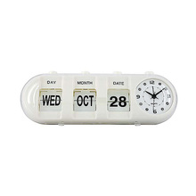Wholesale white color home decorative clock with flip flap