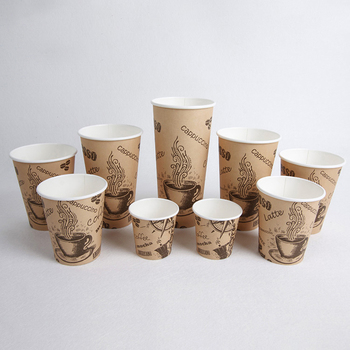 PLA coated coffee cups 100% compostable ice cream cups eco-friendly single wall cups