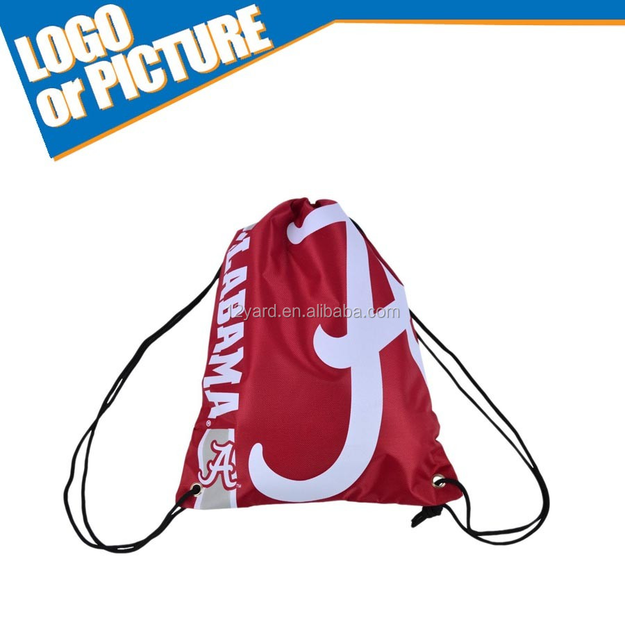 Custom NCAA logo Alabama Crimson basketball Gym Sport String bag