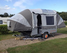 with cooking device,double bedroom for 4 people camper caravan trailer