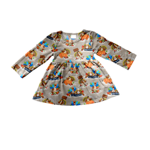 China factory supplier wholesale high quality Halloween kids clothes casual loose tunic tops for baby girls