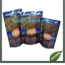 high quality Resealable Custom Printed Food Grade Stand Up Pouch Coffee Packaging Doypack Zipper Bags With Window