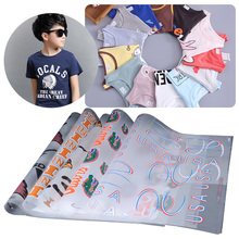2017 newest design fabric heat transfer stickers for kids