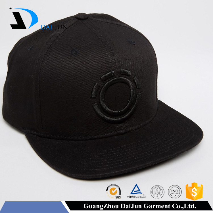 Oem china factory 100%twill cotton 3d embroidery plastic buckle flat brim custom good quality man hat