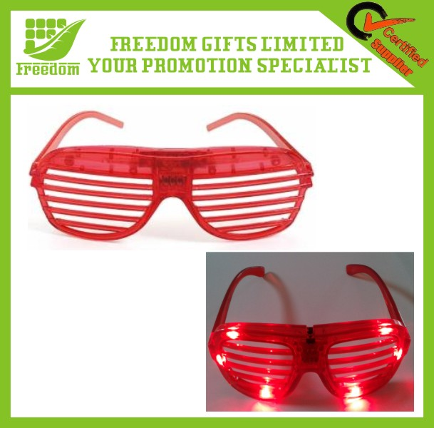 Promotional Window Blinds Shaped LED Party Glasses