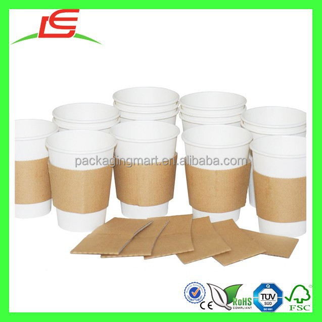 N027 Disposable Paper Coffee Cup With Sleeve