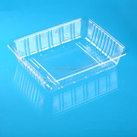 Clear disposable stackable palstic tray for fruits and vegetables