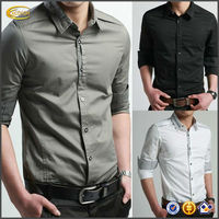High quality New Fashion Luxury latest shirt designs for men Casual Slim Fit Stylish Formal Long Sleeve man Shirt OEM supplier