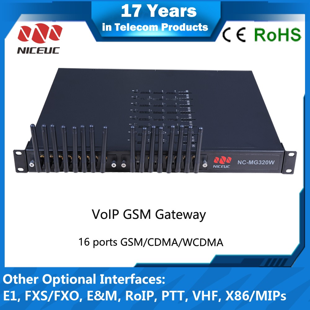16 SIM channel GSM Gateway support sim server VoIP SIM Bank Phone Mobile VoIP GoIP 4 VoIP Gateway