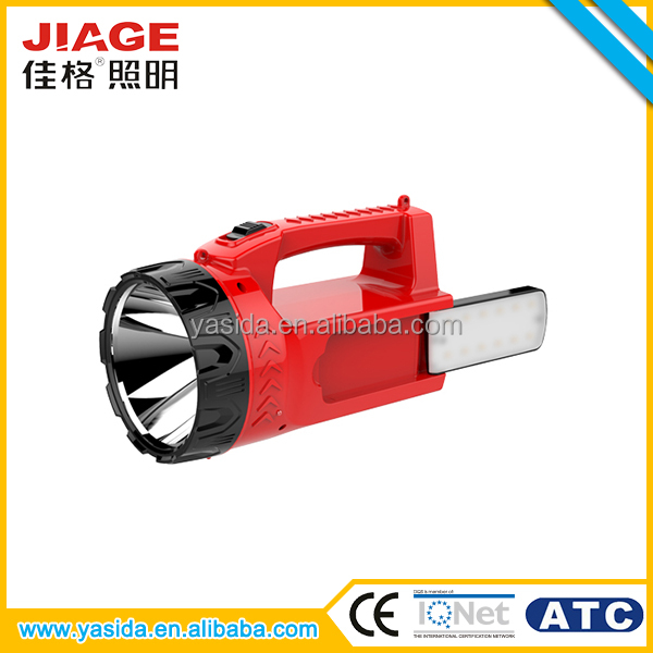 OEM service cheap ABS portable rechargeable led military searchlight