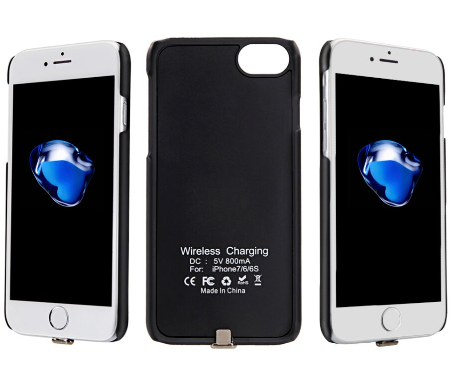 Universal Power Bank Wireless Battery Case Charger For Iphone
