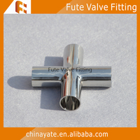 ss304 stainless steel 4 way elbow cross tee pipe