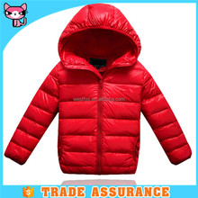 2016 factory price goose down ultralight kids bomber jacket for the winter