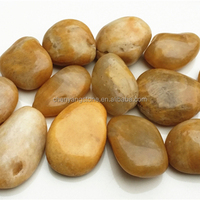 yellow polished pebble stone for garden decoration and landscaping