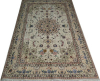 4x6ft persian handknotted wool & silk rugs and carpets