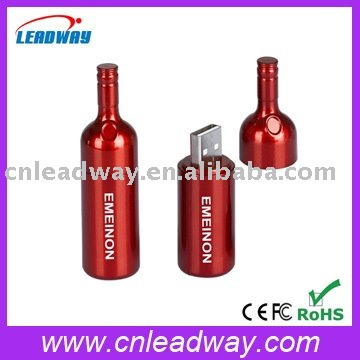 bottle shape pen drive wholesale custom jump drives cheap 1GB usb memory stick with logo print
