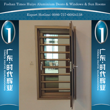 China Products Aluminium Security Window with Tempered Glass and Fly Net