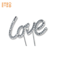 Love Wedding Cake Topper Diamonte Crystal Rhinestone Bling Cake Topper