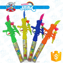 3g candy in toy pop gun with toy knife, mini toy gun candy